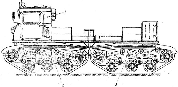 Ходовой макет шасси танка с