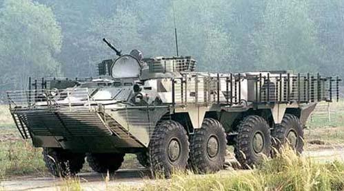 БТР-80 с установленными