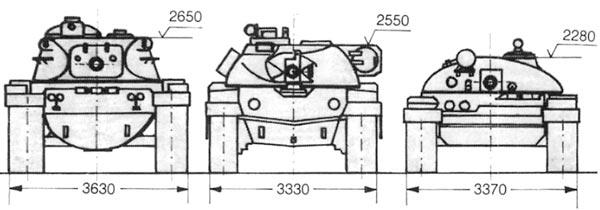 М60А1, «Чифтейн», Т-62