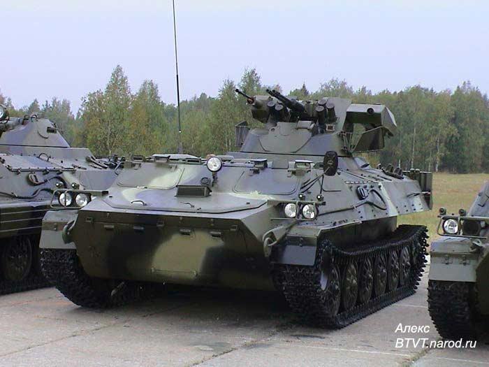 Вариант модернизации МТ-ЛБ (6М1Б3) с установкой усовершенствованной башенной установки собственной разработки...